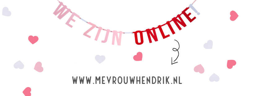 We zijn online - webshop Mevrouw Hendrik