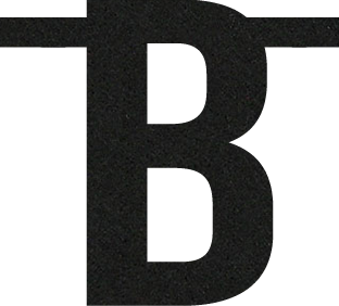 Letter B van vilt in zwart - Mevrouw Hendrik vilten naamslinger