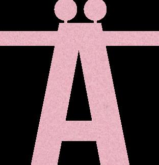 Speciaal teken Ä - Lichtroze - voor stoffen naamslinger van Mevrouw Hendrik