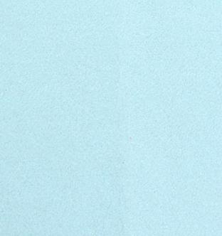 Speciaal teken Ü van vilt in lichtblauw - Mevrouw Hendrik naamslinger vilt
