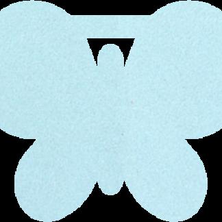 Vlinder van vilt in lichtblauw - Mevrouw Hendrik naamslinger vilt
