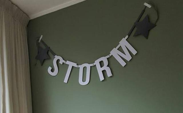 Vilten naamslinger voor hond Storm van Mevrouw Hendrik