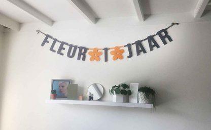 Verjaardagsslinger Fleur 1 jaar - Mevrouw Hendrik
