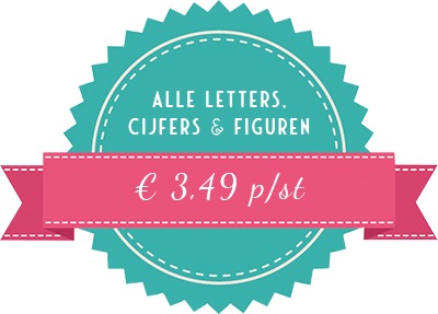 Alle letters, cijfers & figuren van Mevrouw Hendrik € 3,49 per stuk