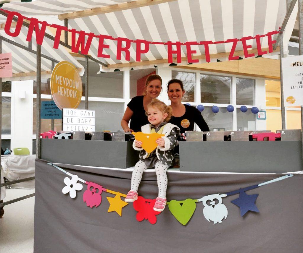 Mevrouw Hendrik op de CWZ Zaterdagmarkt voor zwangeren in Nijmegen