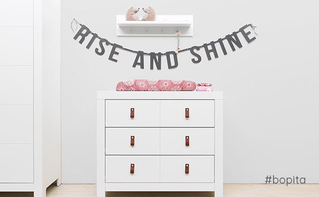 Rise and Shine vilten slinger op babykamer Noah van Bopita