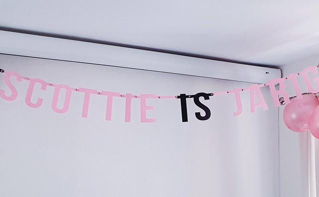 Vilten naamslinger voor verjaardag: Scottie is jarig - Mevrouw Hendrik