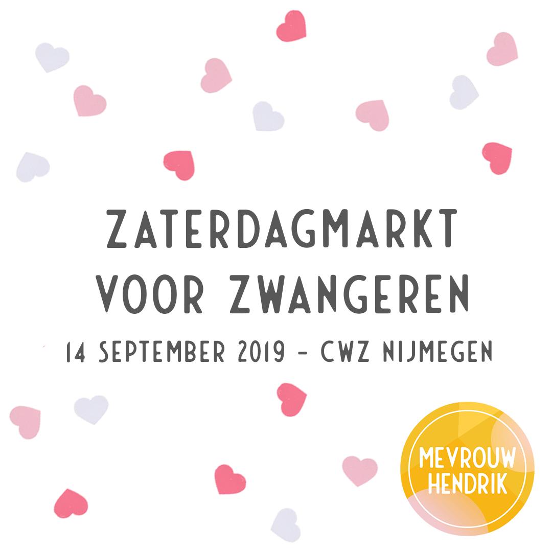 CWZ Zaterdagmarkt voor Zwangeren op 14 september 2019 in Nijmegen
