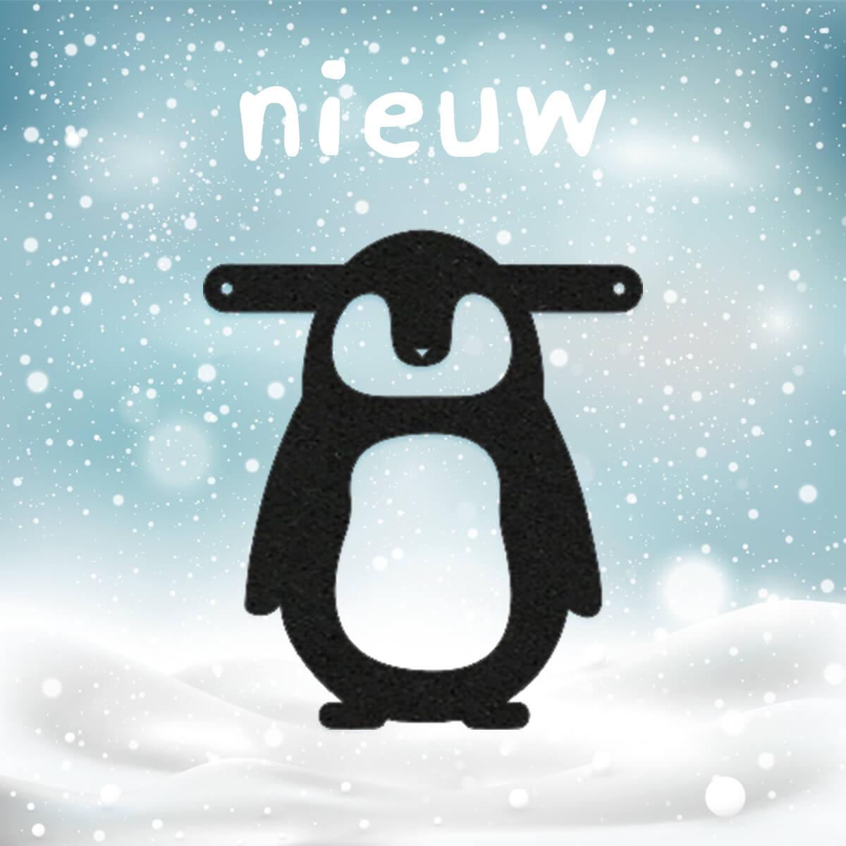 Vilten pinguïn voor aan je gepersonaliseerde naamslinger voor je baby - online bestellen bij Mevrouw Hendrik