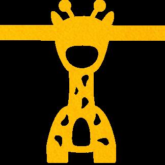 Vilten Giraf okergeel voor aan je vilten slinger met naam van Mevrouw Hendrik