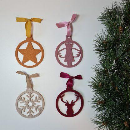 Vilten kersthanger pakket 4 stuks - Mevrouw Hendrik